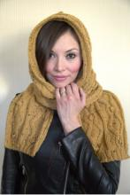 EncoreWorstedTweedHoodedScarf